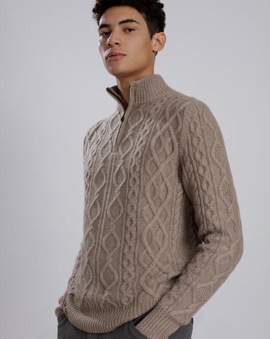 Half-zip pullover - Greige