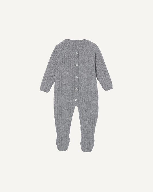 Cable stitched jumpsuit - Flannel grey
