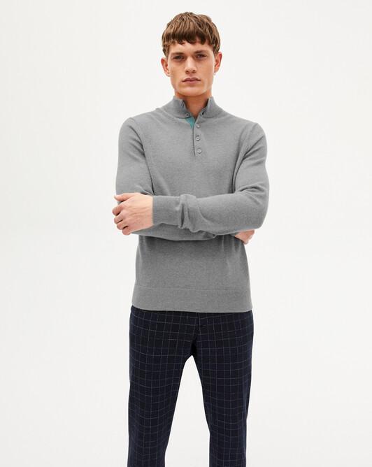Sweat-shirt bicolore - Flanelle/epicea