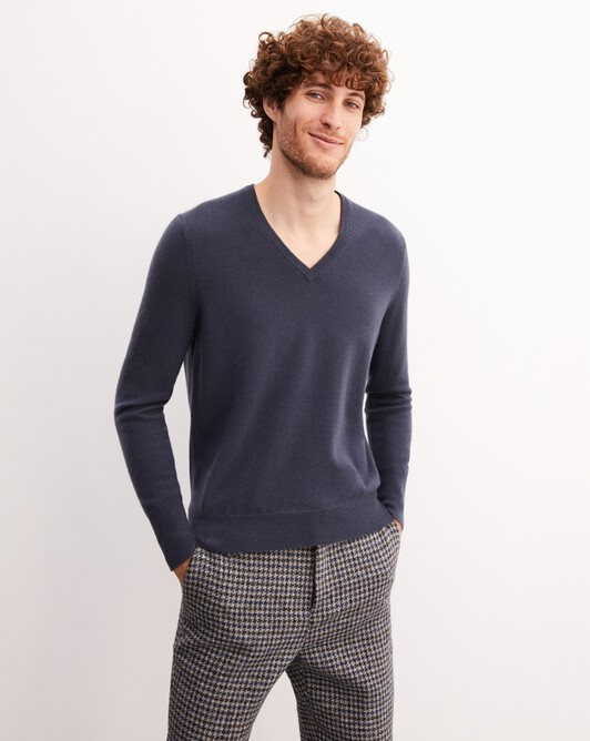 Classic V-neck pullover - Incense