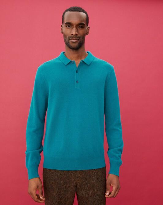 Three-button polo shirt - Yucca