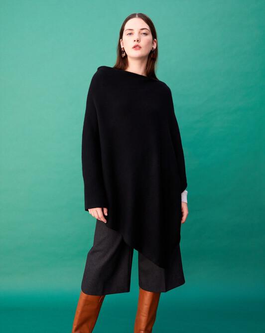 Long poncho - Black