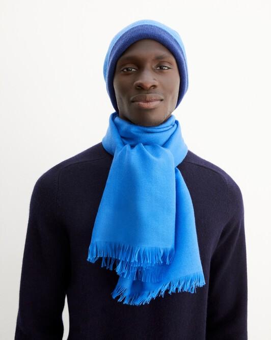 Cashmere voile scarf 150 cm x 55 cm - Cobalt