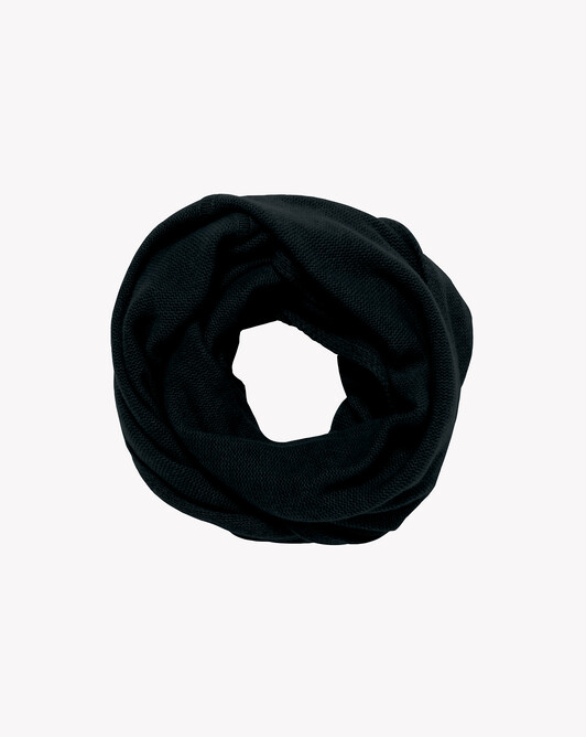 Knitted tube collar - Black