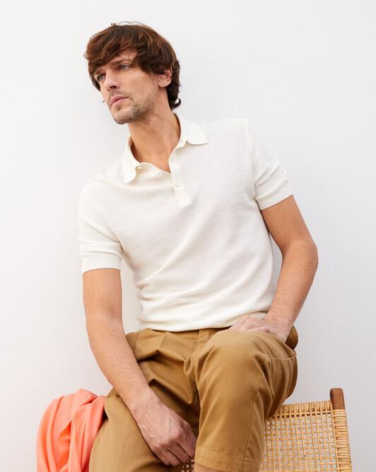 Piqué polo shirt - Autumn white
