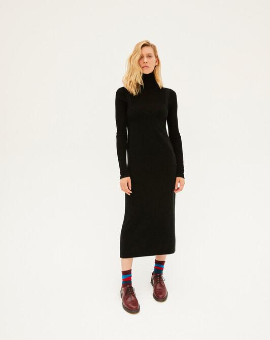 Robe à bretelles jersey - Noir