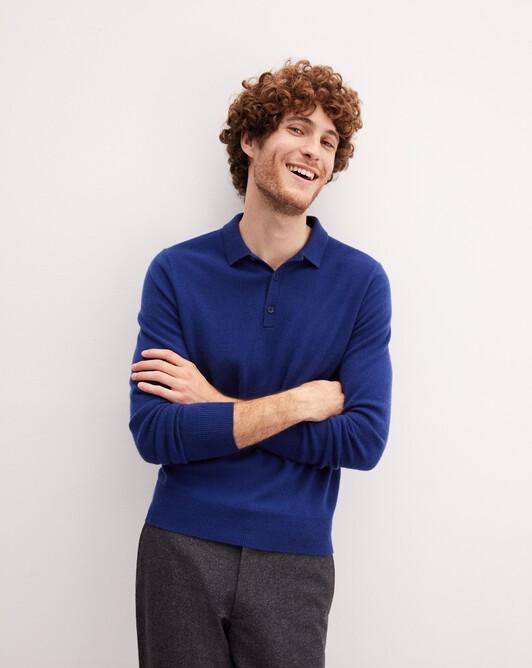 Three-button polo shirt - Royal