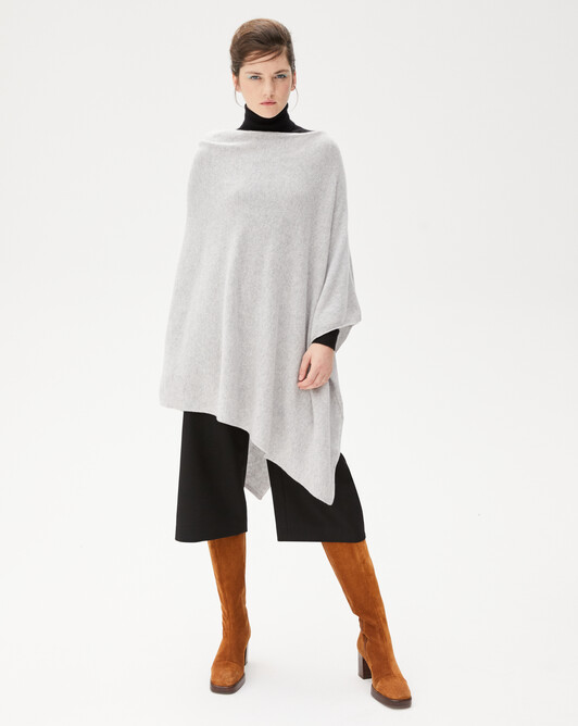 Long poncho - Frost grey
