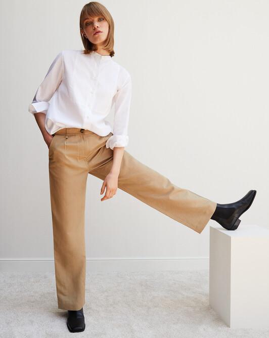 Organic cotton tuxedo shirt - White