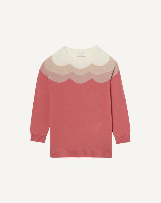 Soft graphic intarsia crew neck sweater - Incarnadin