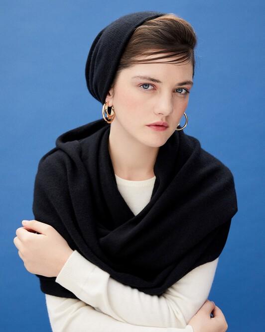 Off-gauge double layer hat - Black