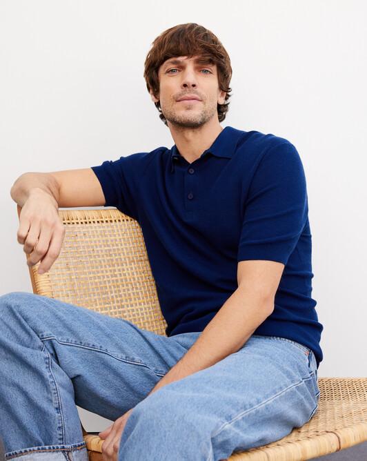 Piqué polo shirt - Admiral blue