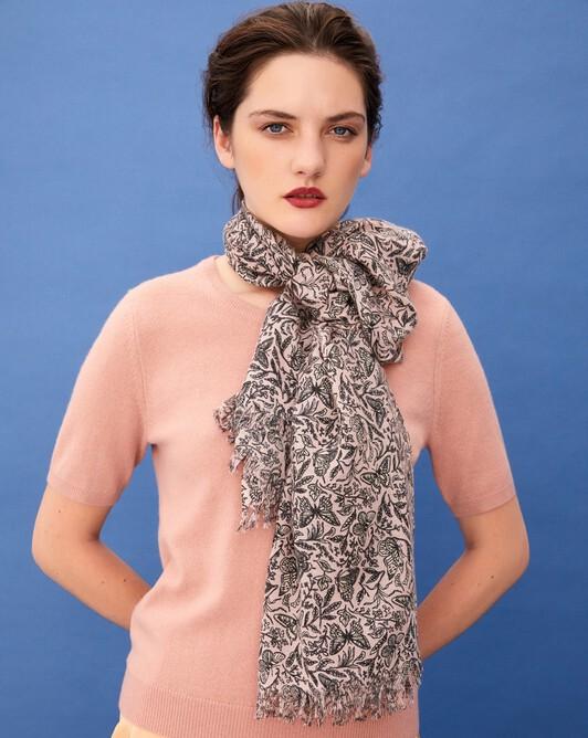 Butterfly print scarf 150 cm x 55 cm - Petal