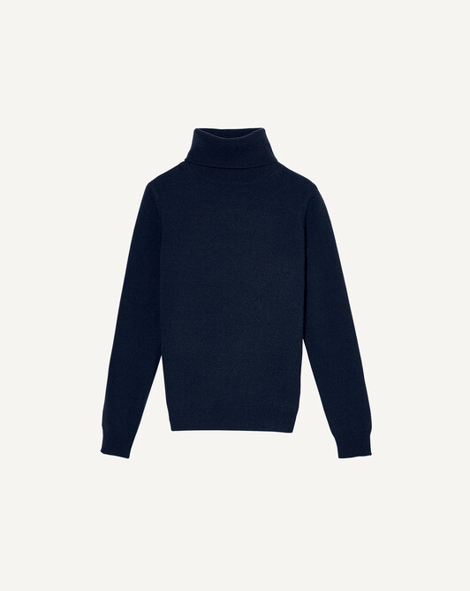 Classic polo neck sweater - Navy blue