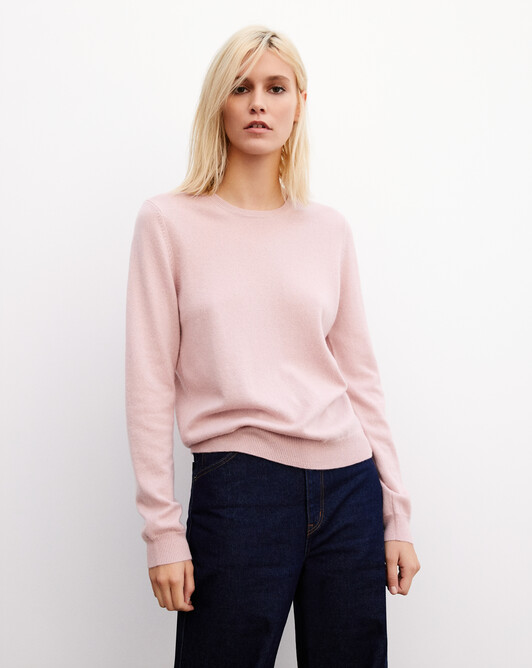 Classic crew neck pullover - Dragee pink
