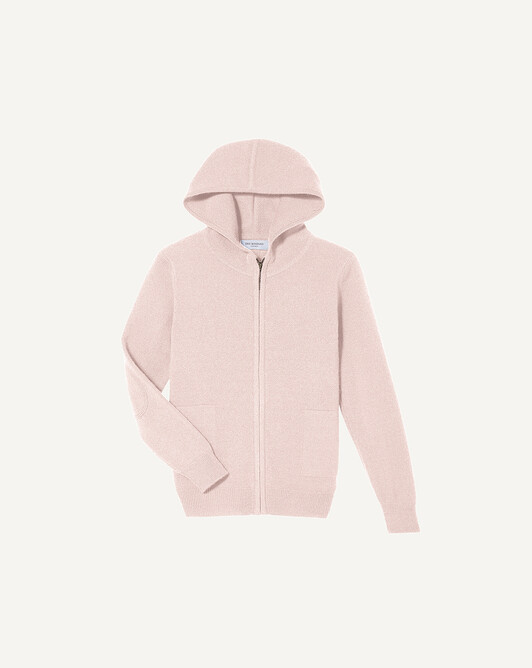 Hoodie - Soft pink melange