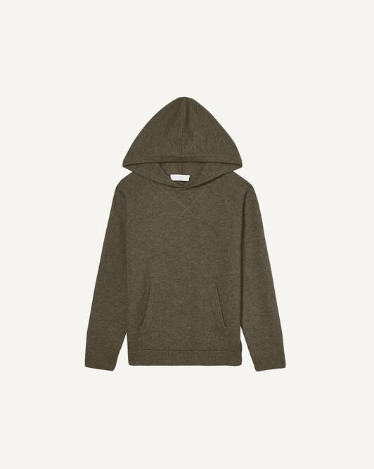 Casual hooded sweatshirt - Khaki