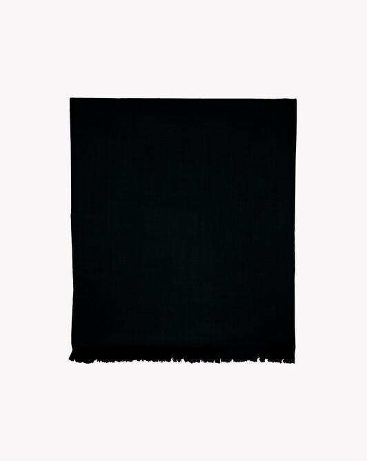 Étole voile de cachemire 180 cm x 85 cm - Noir
