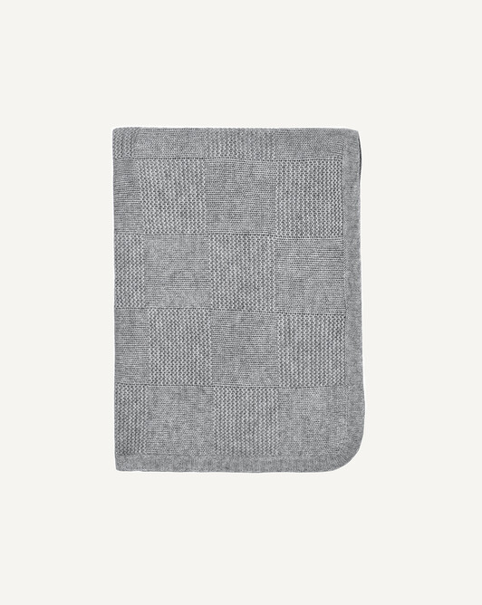 Knitted blanket - Flannel grey