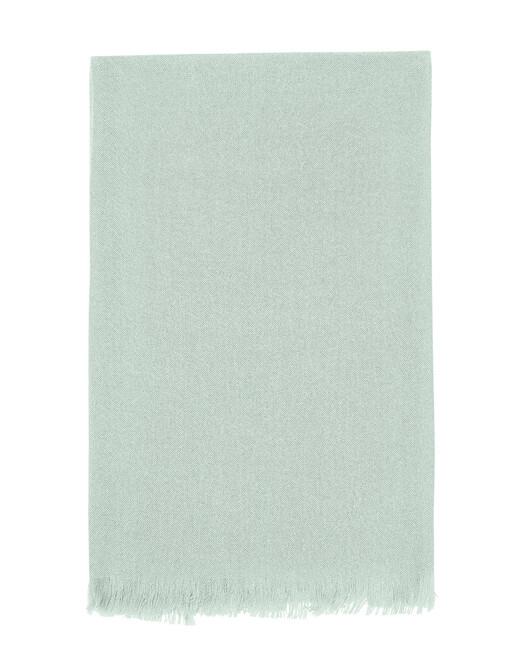 Écharpe voile de cachemire 150 cm x 55 cm - Vert d'eau