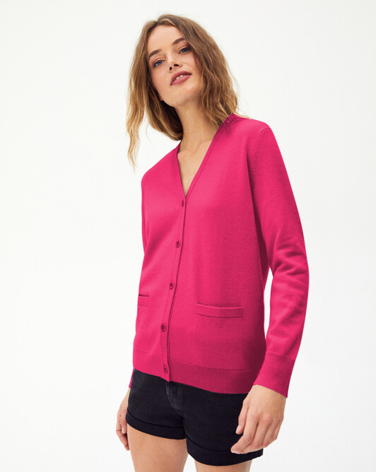 Classic V-neck cardigan - Heat