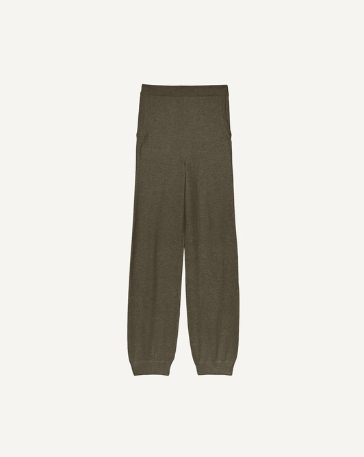 Fluid casual jogging trousers - Khaki