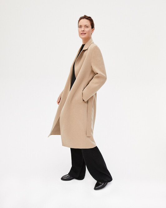 Trench style double face coat - Camel
