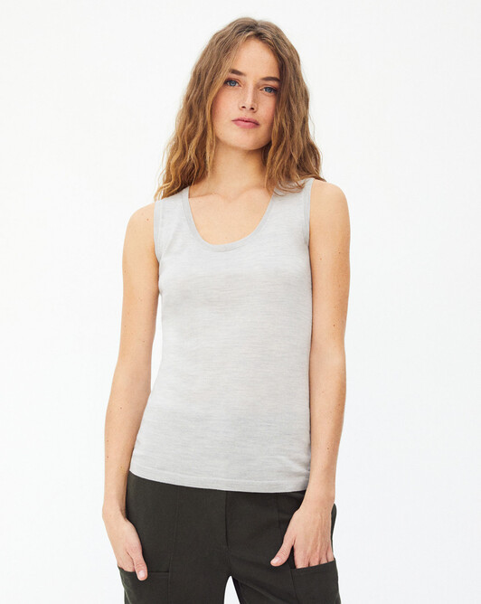 Extrafin tank top - Frost grey