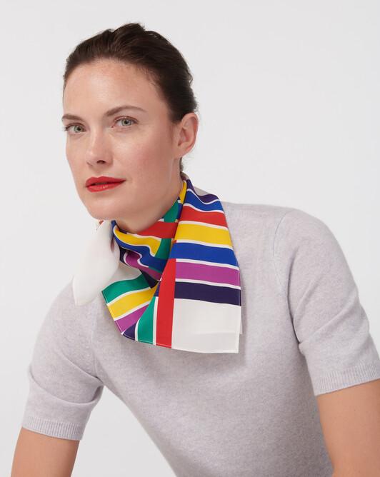 Mini carré soie rubans colorful 60 cm x 60 cm - Multicoloris