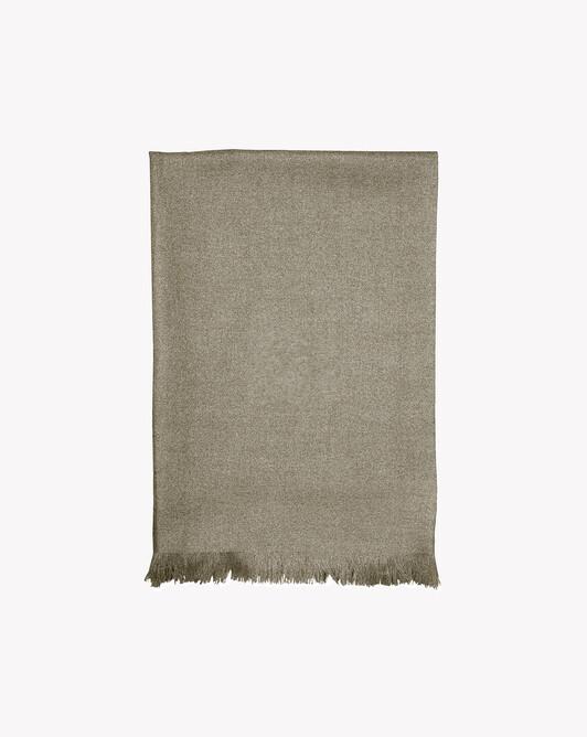 Cashmere voile scarf 150 cm x 55 cm - Khaki