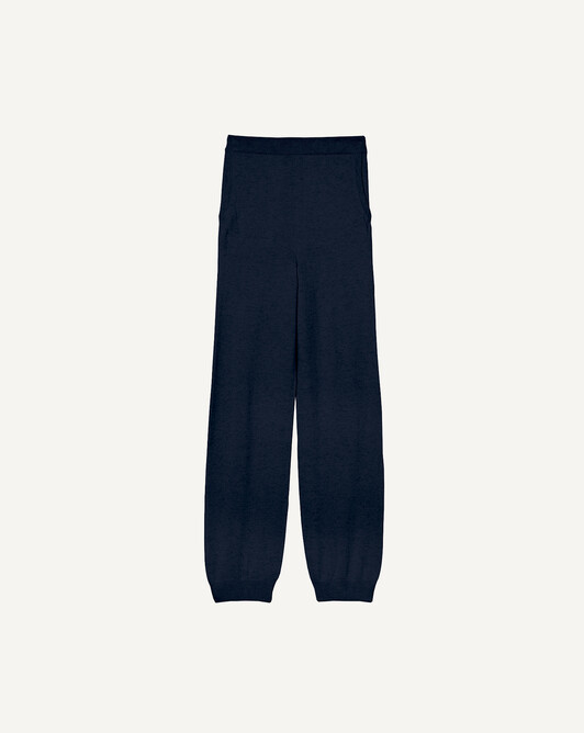 Fluid casual jogging trousers - Navy blue