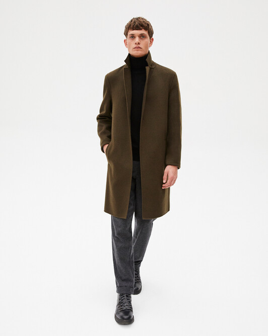 Double face coat - Khaki