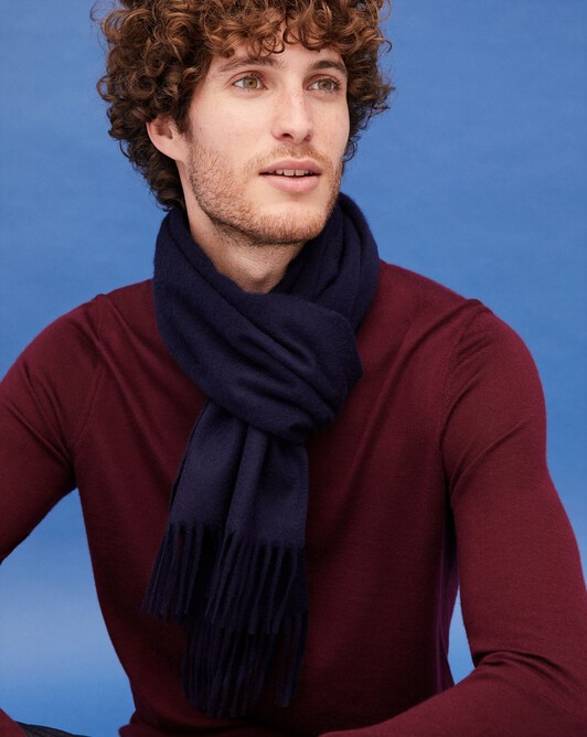 Classic scarf 170 cm x 35 cm - Navy blue