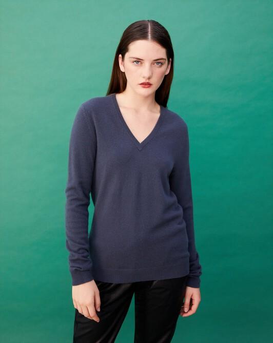 Classic V-neck pullover - Incense