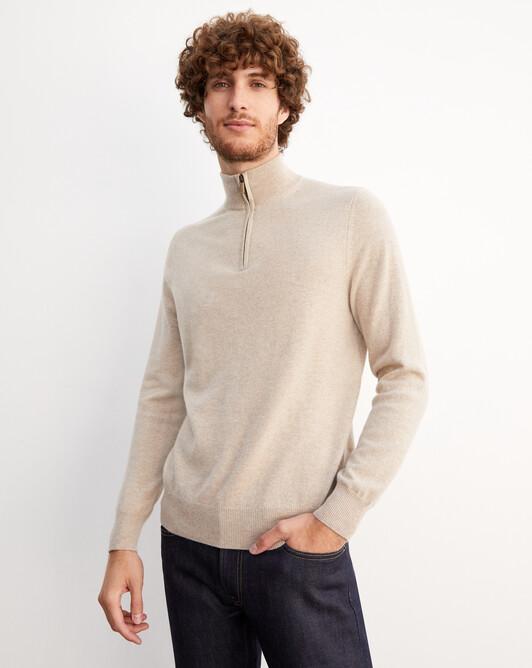2-ply half-zip pullover - Zanskar