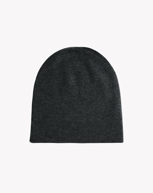 Off-gauge double layer hat - Charcoal grey