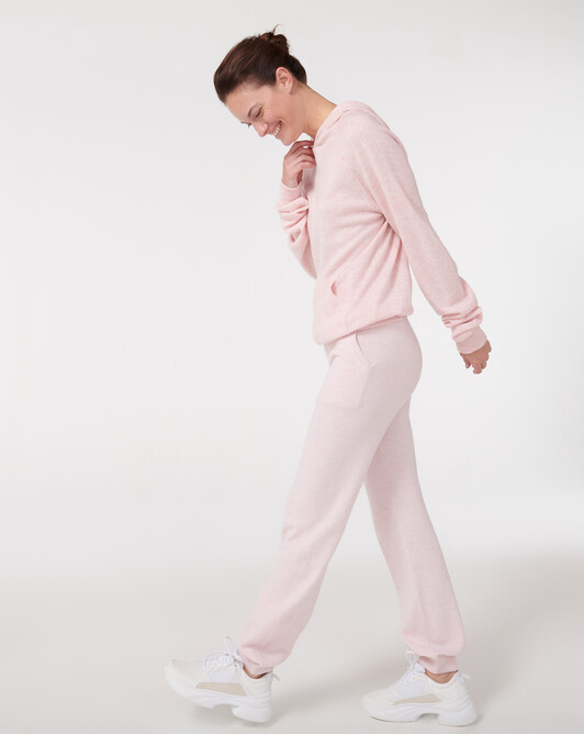Pantalon jogging fluide casual - Aubepine chine