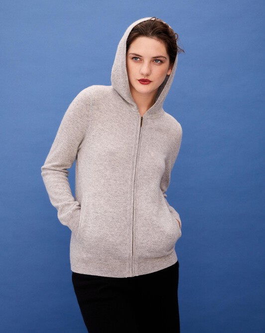 Fitted hoodie - Frost grey