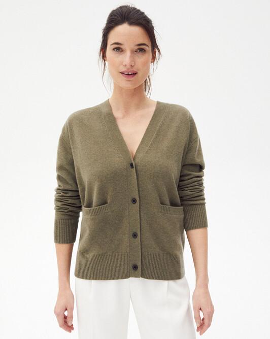 Contemporary cardigan - Khaki