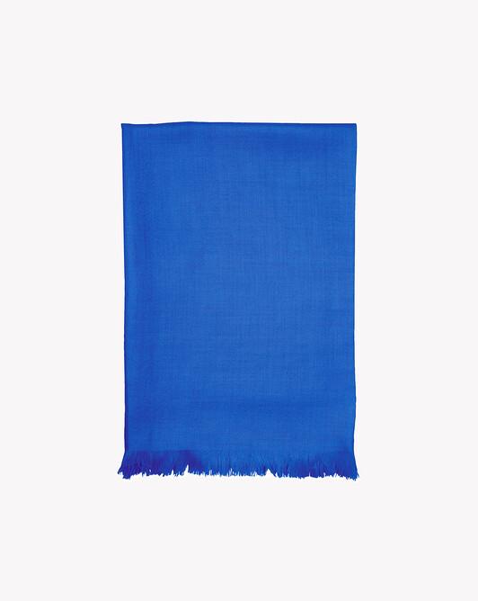 Écharpe voile de cachemire 150 cm x 55 cm - Cobalt