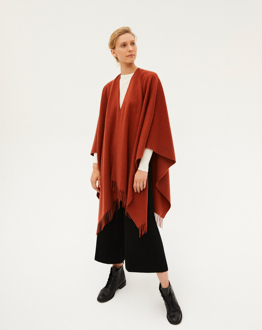 Twined fringed poncho 160 x 130 cm - Everbay