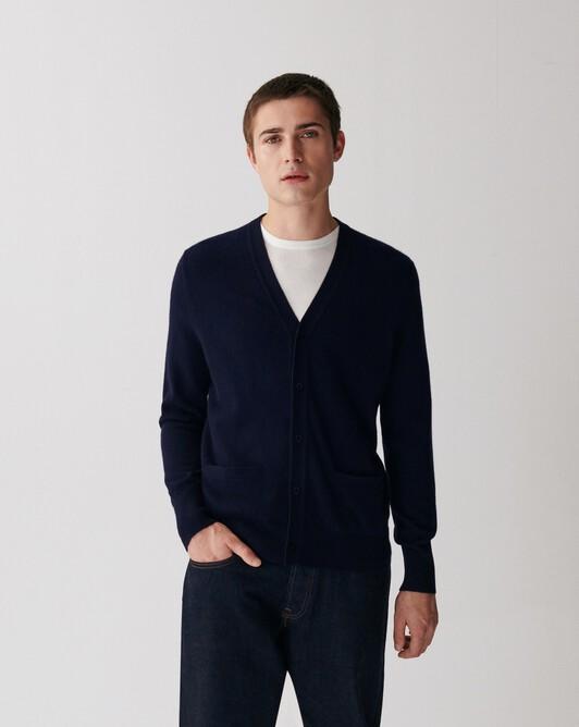 Classic cardigan - Navy blue