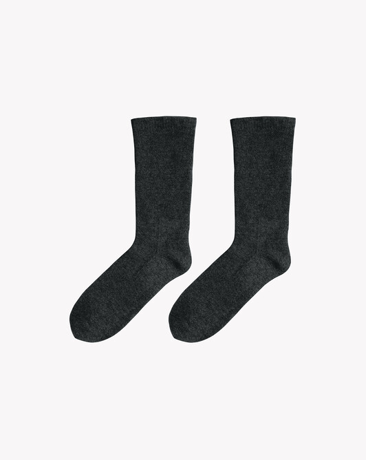 Plain short socks - Charcoal grey