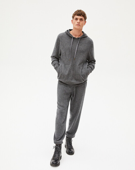 Casual jersey trousers - Charcoal grey