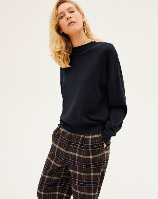 Cashmere wool Must-Have crew-neck sweater - Navy blue