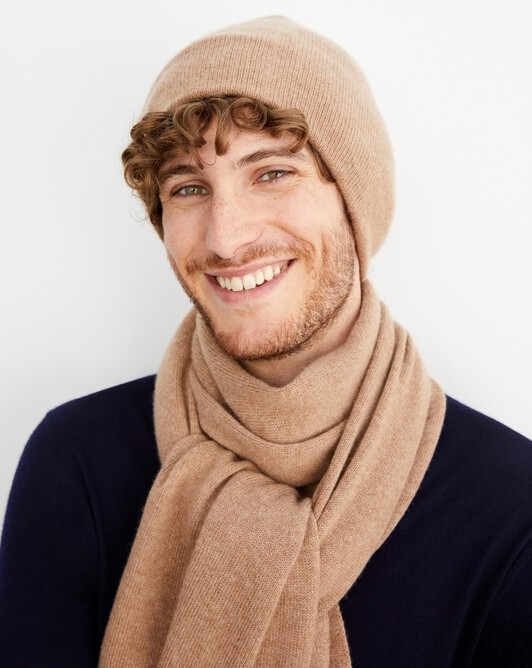 Off-gauge double layer hat - Camel