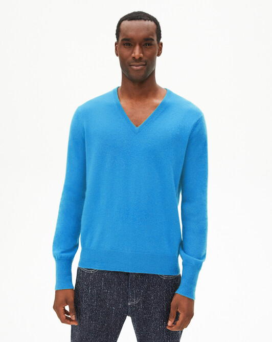 Classic V-neck sweater - Santorin