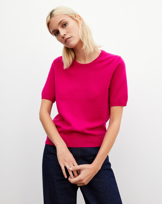 Classic short-sleeved crew neck pullover - Heat