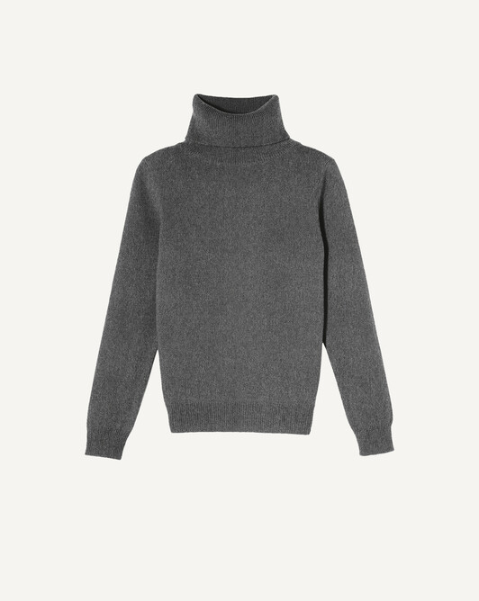 Classic polo neck sweater - College grey