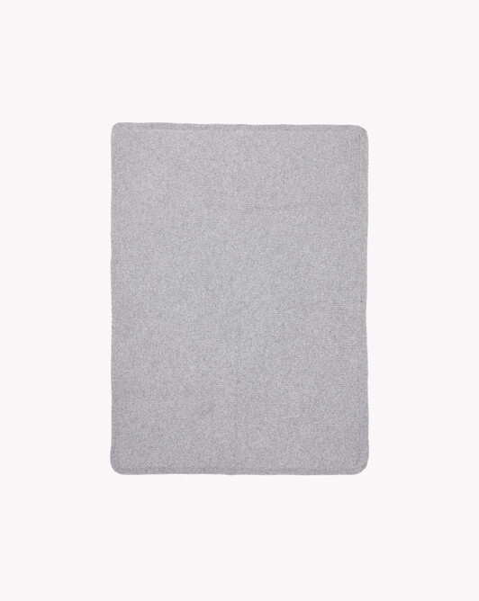 Knitted blanket - Frost grey